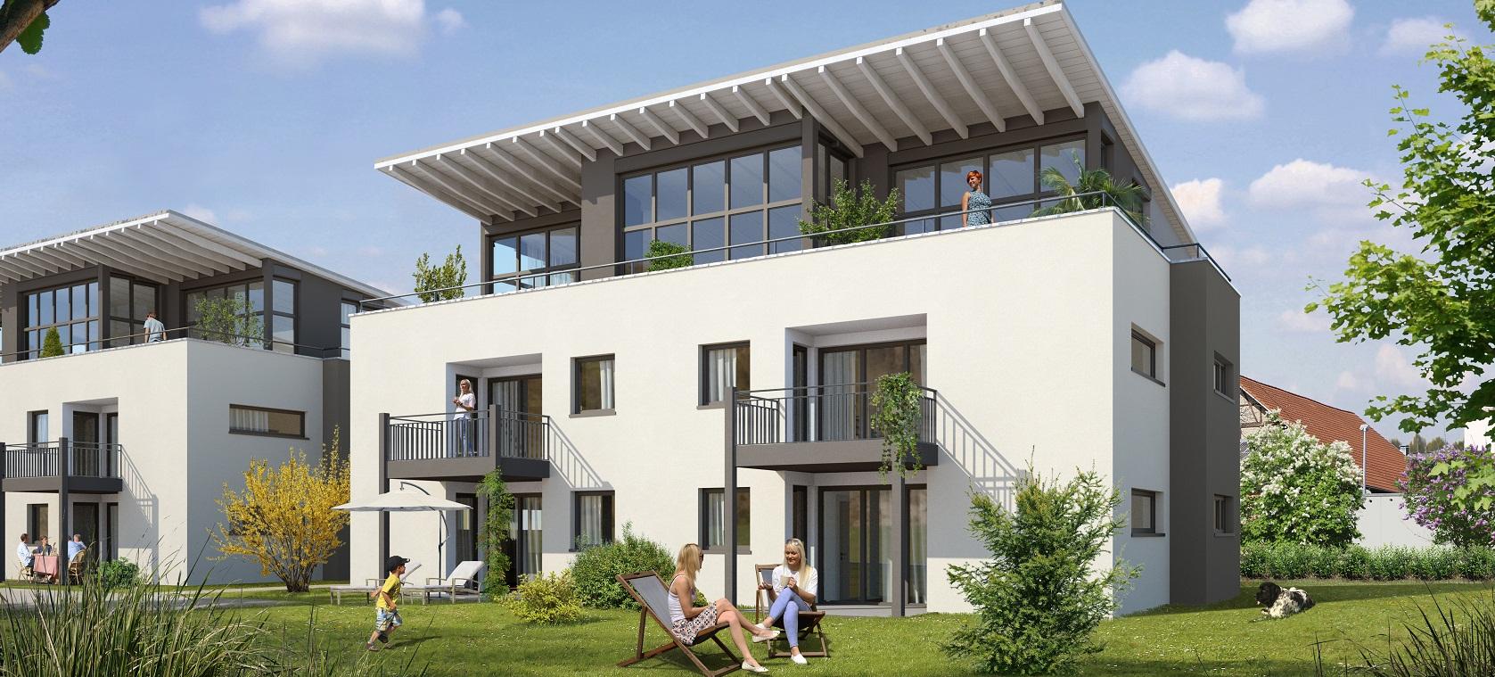 ditzingen hirschlanden 15 eigentumswohnungen sch ner wohnen immobilien ludwigsburg. Black Bedroom Furniture Sets. Home Design Ideas