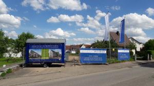 Bauwagen vor Ort - Bald Baustart in Sachsenheim