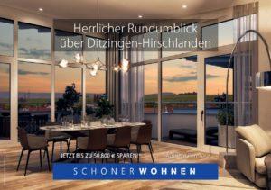 Herrliche Rundumblick aus dem Penthaus in Ditzingen-Hirschlanden Talstraße