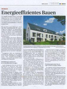 Ludwigsburger Kreiszeitung, energieeffizientes Bauen, 01.07.2018, KfW